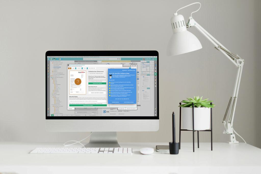 PaperOffice Dokumentenmanagement Software ist die Komplettlösung: Dokumente archivieren und verwalten mit automatischer KI-basierter Dokumentenerkennung. Effiziente und KI-basierte Dokumentenarchivierung, Aktenverwaltung, Vertragsverwaltung und Dokumentenverwaltung für Privatanwender bis hin zu Großunternehmen. Weltbeste OCR-Texterkennung, Live-Stichwortsuche und SQL basierte revisionssichere Datenspeicherung - Sie finden garantiert jedes Dokument in Sekundenschnelle, ohne Datenverluste. Zusammen mit Ihrem Synology NAS ist Ihr PaperOffice das beste DMS