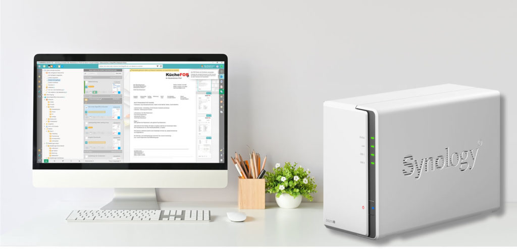 PaperOffice DMS und Synology NAS ideal für Home Office