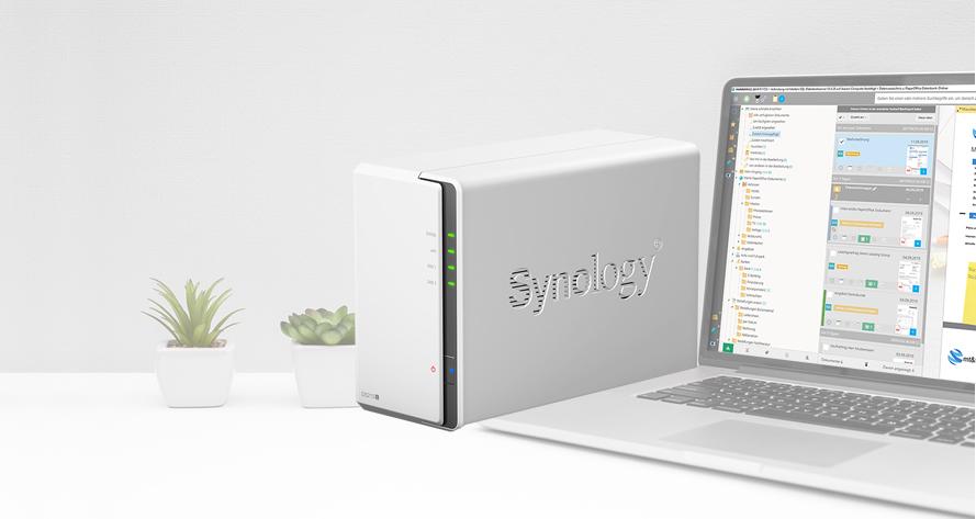 Synology NAS ist der ideale Speicher-Partner für PaperOffice DMS