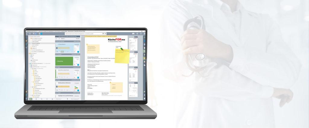 Dokumentenmanagement System im Gesundheitswesen